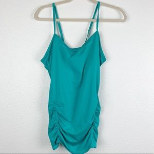 Zella Turquoise Spaghetti Strap Active Top Large